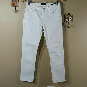 Banana Republic white slim straight denim jeans